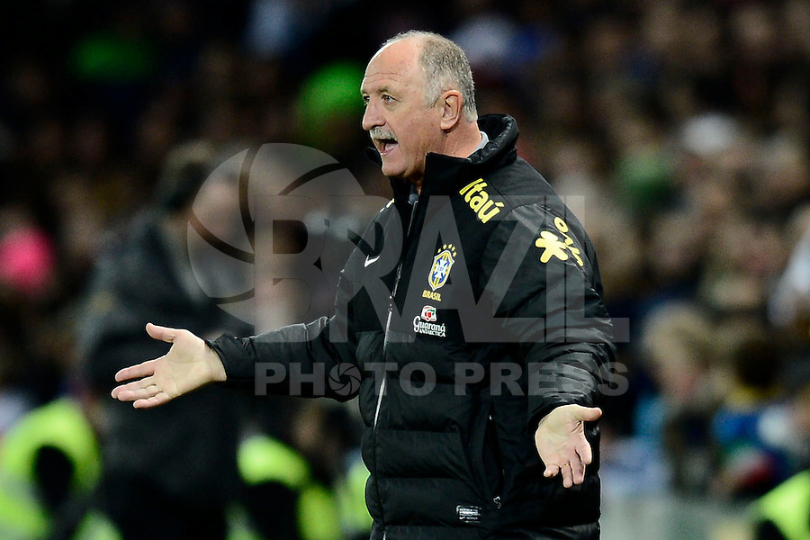 Football: National Team Brasil, Geneva, 21.03.2013.coach Felipe Scolari.© pixathlon.ITA AND FRA OUT !