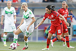 VfL Wolfsburg's Lena Goessling (l) and Olympique Lyonnais' Louisa Necib during UEFA Women's Champions League 2015/2016 Final match.May 26,2016. (ALTERPHOTOS/Acero)
