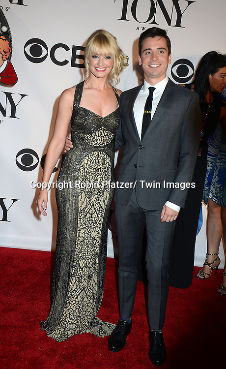 Beth Behrs and date attend the 67th Annual Tony Awards on Sunday, June 9th at Radio City Music Hall in New York City.