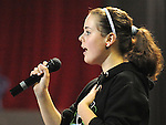 Catriona Nolan Colaiste na Hinse Laytown performing in the School Stars auditions in the TLT Drogheda. Photo: Colin Bell/pressphotos.ie