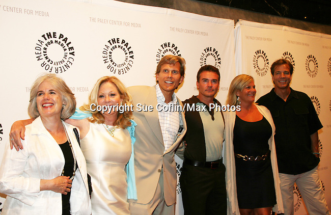 Tina Sloan - Grant Aleksander - Kurt McKinney - Kim Zimmer - Bradley Cole at the Goodbye to Guiding Light, 72 Years Young on August 19, 2009 at the Paley Center for Media, NYC, NY. (Photo by Sue Coflin/Max Photos)
