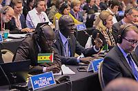 FLORIANÓPOLIS, SC, 13.09.2018 - IWC-SC - representante do senegal fala na 67ª reunião anual de Membros da IWC (International Whaling Commission) em Florianópolis nesta Quinta-feira 13.  (Foto: Naian Meneghetti/Brazil Photo Press)