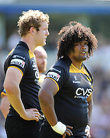 Ashley Johnson of London Wasps looks on during the first leg of the European Rugby Champions Cup play-off match between London Wasps and Stade Francais at Adams Park on Sunday 18th May 2014 (Photo by Rob Munro)