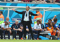 Italy coach Cesare Prandelli shows a look of frustration on the touchline
