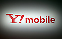 January 18, 2017, Tokyo, Japan - Japanese mobile communication service Y!mobile's logo is displayed at a promotional event of Y!mobile, a subsidiary of Softbank in Tokyo on Wednesday, January 18, 2017. Japanese singer-songwriter Pikotaro performed at the event.   (Photo by Yoshio Tsunoda/AFLO) LWX -ytd