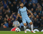 Sergio Aguero of Manchester City during the Champions League Group C match at the Etihad Stadium, Manchester. Picture date: November 1st, 2016. Pic Simon Bellis/Sportimage