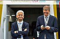 Orlando, FL - Wednesday June 08, 2016: United States Soccer Federation (USSF) president Sunil Gulati prior to a Copa America Centenario Group B match between Brazil (BRA) and Haiti (HAI) at Camping World Stadium.