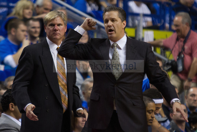 Coach John Calipari during the second half of the UK vs. Lafaytte basketball game at Rupp Arena  on Friday, Nov. 16, 2012. Photo by Adam Chaffins | Staff