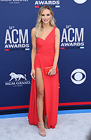 07 April 2019 - Las Vegas, NV - Lauren Bushnell. 54th Annual ACM Awards Arrivals at MGM Grand Garden Arena. Photo Credit: MJT/AdMedia<br /> CAP/ADM/MJT<br /> &copy; MJT/ADM/Capital Pictures