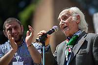 Massimo Pradella (Antifascist Partizan. Member of the Partigiani: the Italian Resistance during WWII).<br /> <br /> Rome, 25/04/2018. Today, to mark the 73rd Anniversary of the Italian Liberation from nazi-fascism ('Liberazione'), ANED Roma & ANPI Roma (National Association of Italian Partizans) held a march ('Corteo') from Garbatella to Piazzale Ostiense where a rally took place attended by Partizans, Veterans and politicians – including the Mayor of Rome and the President of Lazio's Region. From the organisers Facebook page:<<For the 25th of April, the 73rd Anniversary of the Liberation of Italy from nazi-fascism, while facing new threats to the world peace, it is necessary to remember that the Fight for Liberation triggered the greatest, positive, 'break' of the whole modern age of the Italian history. The Fight for the Liberation was supported by a great solidarity of the people. The memory of those who in the partizan struggle, in the camps of imprisonment, internment or extermination, opposed - even until the sacrifice of life - the dictatorship, the greed of territorial conquests, crazy ideologies of race supremacy, constitutes concrete warning against any attempt to undermine the foundations of the free institutions born of the Resistance. Memory is not an instrument of hatred or revenge, but of unity in a spirit of harmony without discriminations...<br /> (For the full caption please read the PDF attached at the the beginning of this story).<br /> <br /> For more info please click here: https://bit.ly/2vOIfNf & https://bit.ly/2r4iJy3 & http://www.anpi.it<br /> <br /> For the Wikipedia's page of the 'Liberazione' please click here: https://en.wikipedia.org/wiki/Liberation_Day_(Italy)<br /> <br /> For a Video of the event by Radio Radicale please click here: https://www.radioradicale.it/scheda/539534/manifestazione-promossa-dallanpi-in-occasione-della-73a-festa-della-liberazione