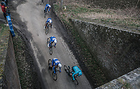 The Quick Step Floors train going underground<br /> <br /> 61th E3 Harelbeke 2018 (1.UWT)<br /> 1day race: Harelbeke &rsaquo; Harelbeke - BEL (206km)
