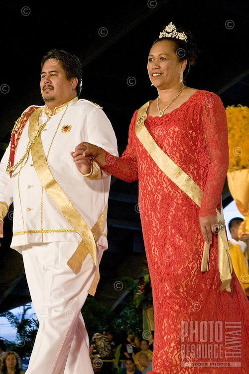 Merrie Monarch Hula festival ali'i (king and queen) 2006