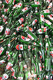 INDONESIA, Flores, bottles of Bintang beer in a pile at the Cafe de Mar in Riung