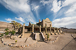 Ghost town of Rhyolite, Nevada<br /> <br /> Las Vegas &amp; Tonopah Railroad station building