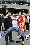 LONDON, ENGLAND - MAY 20: 2011-12 Luton fans arriving for the Blue Square Bet Conference League promotion final between Luton Town FC and York City FC at Wembley Stadium on May 20, 2012 in London, England. (Photo by Dave Horn - Extreme Aperture Photography)