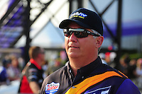 Apr. 27, 2012; Baytown, TX, USA: NHRA pro stock driver Rodger Brogdon during qualifying for the Spring Nationals at Royal Purple Raceway. Mandatory Credit: Mark J. Rebilas-