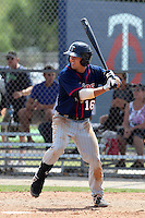 Minnesota Twins shortstop Levi Michael #16 during a minor league spring training intrasquad game at the Lee County Sports Complex on March 25, 2012 in Fort Myers, Florida.  (Mike Janes/Four Seam Images)