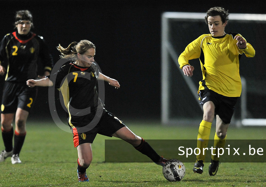 Belgium Dames U19 - selectie brabant jongens U15 :  Lotte Michiels.foto DAVID CATRY / Vrouwenteam.be
