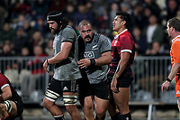 Action from the Game of Three Halves between the NZ All Blacks and Canterbury at AMI Stadium in Christchurch, New Zealand on Friday, 10 August 2018. Photo: Martin Hunter / lintottphoto.co.nzz