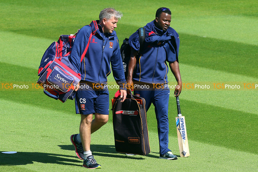 Essex head coach Chris Silverwood (L) and Donovan Miller during Surrey vs Essex Eagles, Royal London One-Day Cup Cricket at the Kia Oval on 2nd May 2017