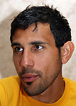 Pablo Mastroeni on Wednesday, May 17th, 2006 at Embassy Suites Hotel in Cary, North Carolina. The United States Men's National Soccer Team held player interview sessions as part of their preparations for the upcoming 2006 FIFA World Cup Finals being held in Germany.