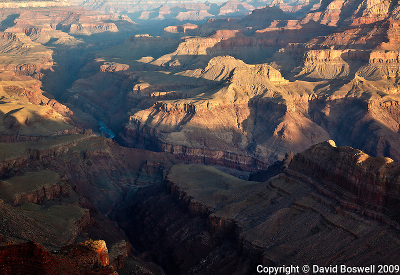 The Grand Canyon at sunrise, seen from Lapan Point on the South Rim.