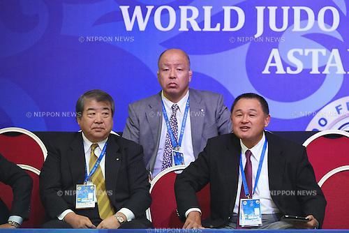 (L-R) Haruki Uemura, Yasuhiro Yamashita (JPN), AUGUST 25, 2015 - Judo : World Judo Championships Astana 2015 at Alau Ice Palace in Astana, Kazakhstan. (Photo by AFLO SPORT)
