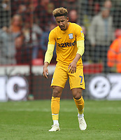 Preston North End's Callum Robinson looks dejected<br /> <br /> Photographer Mick Walker/CameraSport<br /> <br /> The EFL Sky Bet Championship - Sheffield United v Preston North End - Saturday 22 September 2018 - Bramall Lane - Sheffield<br /> <br /> World Copyright &copy; 2018 CameraSport. All rights reserved. 43 Linden Ave. Countesthorpe. Leicester. England. LE8 5PG - Tel: +44 (0) 116 277 4147 - admin@camerasport.com - www.camerasport.com