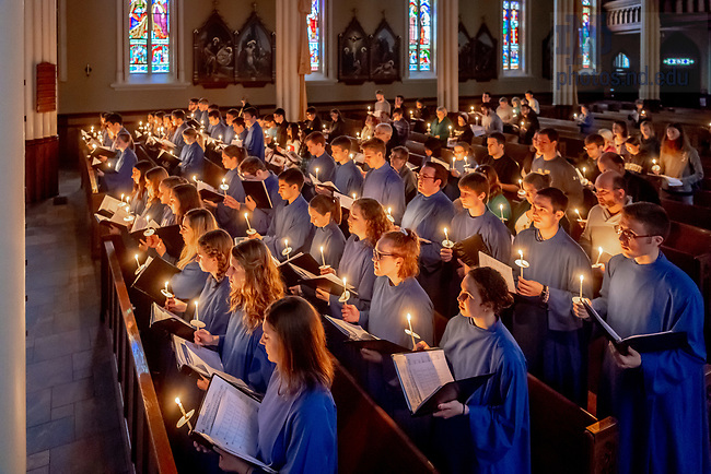 April 15, 2018; Sunday Vespers at the Basilica of the Sacred Heart. (Photo by Matt Cashore/University of Notre Dame)