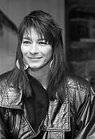 Montreal (Qc) CANADA,February 17, 1989-<br /> <br /> Sylvie Bernard, singer of native origin.<br /> -Photo (c)  Images Distribution