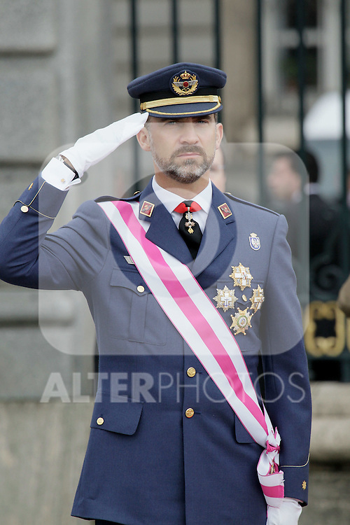 Military Christmas at Madrid Royal Palace. Princess Felipe...Photo: MAC / ALFAQUI