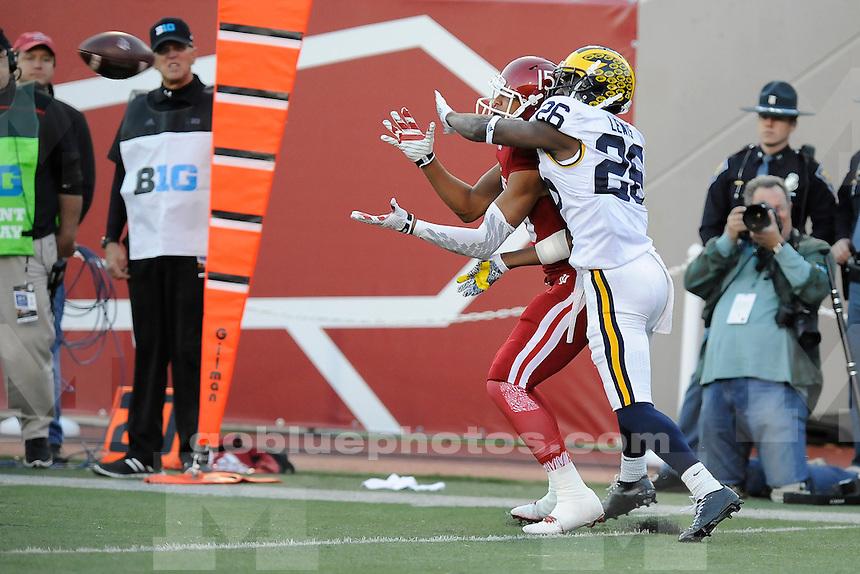 Michigan defeats Indiana University, 48-41 in double overtime at IU's Memorial Stadium, Saturday, November 14, 2015.