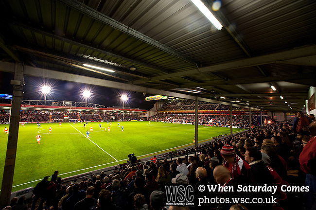 Walsall 1 Chelsea 4, 23/09/2015. Bescot Stadium, Capital One Cup Third Round. League One Walsall host struggling Premier League Chelsea. After drawing the Londoners, Saddlers supporters sold out the Bescot Stadium hoping for an upset. The match was watched by 10,525. View from the family stand. Photos by Simon Gill.