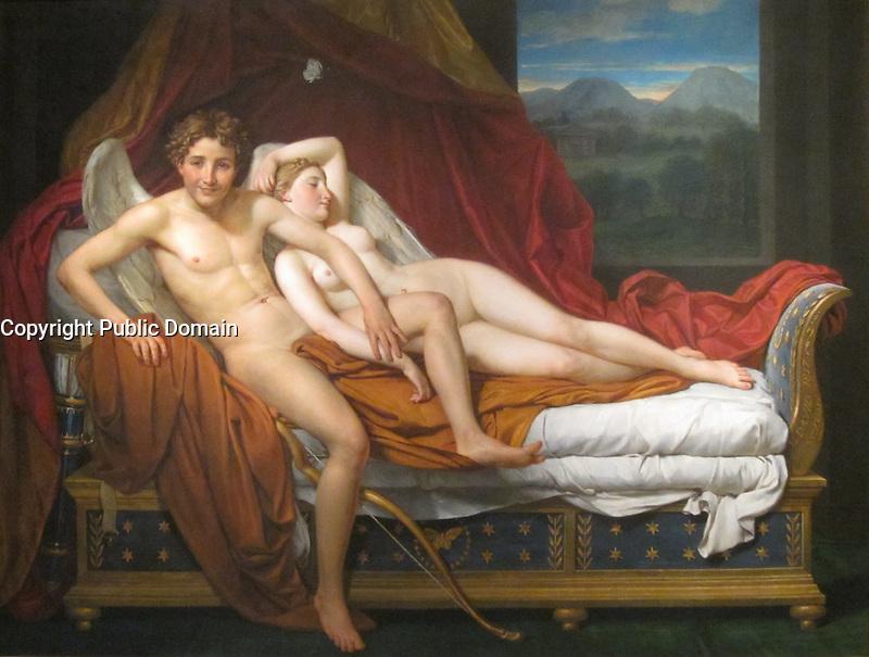 Cupidon et Psyche <br /> par Jacques-Louis David