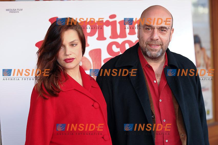 Micaela RAMAZZOTTI e Paolo VIRZI'.La prima cosa bella - Photocall.Roma 12/1/2010 Cinema Embassy.Foto Andrea Staccioli Insidefoto