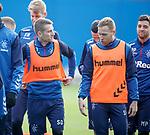 22.11.2019 Rangers training: Steven Davis and Scott Arfield