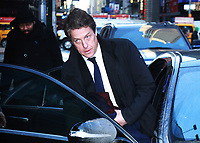 NEW YORK, NY - JANUARY 9: Hugh Grant seen at Good Morning America promoting his new film Paddington 2 in New York City on January 9, 2018. <br /> CAP/MPI/RW<br /> &copy;RW/MPI/Capital Pictures