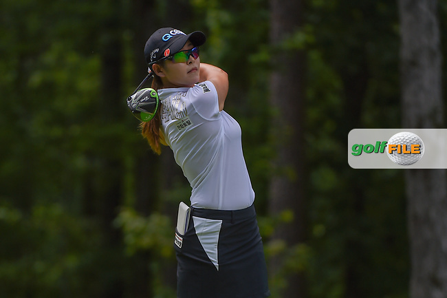 Jihyun Kim (KOR) watches her tee shot on 2 during round 1 of the U.S. Women's Open Championship, Shoal Creek Country Club, at Birmingham, Alabama, USA. 5/31/2018.<br /> Picture: Golffile | Ken Murray<br /> <br /> All photo usage must carry mandatory copyright credit (© Golffile | Ken Murray)