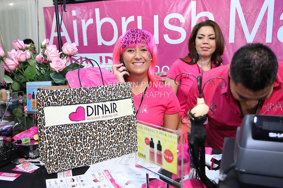 Dinair Airbrush staff at the Makeup Show NYC, May 15 2011.
