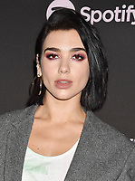 LOS ANGELES, CA - FEBRUARY 07: Dua Lipa attends Spotify's Best New Artist Party at the Hammer Museum on February 07, 2019 in Los Angeles, California.<br /> CAP/ROT/TM<br /> ©TM/ROT/Capital Pictures