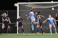 Piscataway, NJ - Saturday Aug. 27, 2016: Kristin Grubka, Taylor Casey Short, Raquel Rodriguez during a regular season National Women's Soccer League (NWSL) match between Sky Blue FC and the Chicago Red Stars at Yurcak Field.