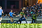 Paul Murphy Kerry in action against Stephen Cluxton Dublin in the National League in Austin Stack park on Saturday night.