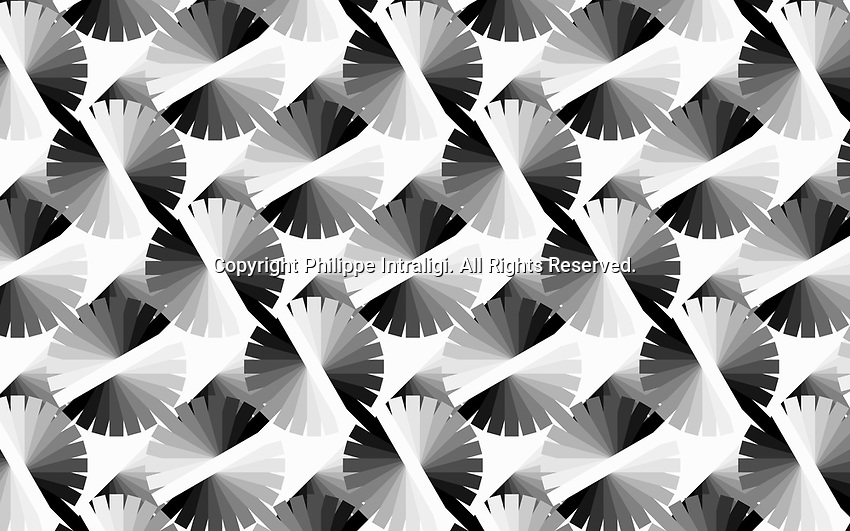 Abstract monochrome colour wheel pattern