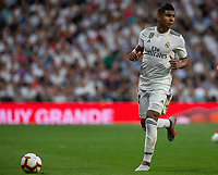 Casemiro of Real Madrid during the match between Real Madrid v Atletico Madrid of LaLiga, date 7, 2018-2019 season. Santiago Bernabéu Stadium. Madrid, Spain - 29 SEP 2018.
