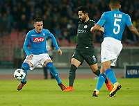 Jose Callejon Ilkay Gundogan  during the Champions League Group  soccer match between SSC Napoli - Manchester City   at the Stadio San Paolo in Naples 01 nov 2017