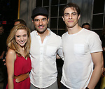 Christy Altomare, Ramin Karimloo and Derek Klena   attends Actors' Equity Broadway Opening Night Gypsy Robe Ceremony honoring Shina Ann Morris for  'Anastasia' at the Broadhurst Theatre on April 24, 2017 in New York City.
