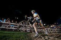 Thijs Van Amerongen (NLD/Telenet-Fidea) fluently attacking the steps<br /> <br /> Cross Vegas 2014