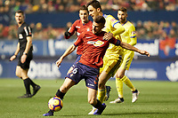 Oier Sanjurjo (defender; CA Osasuna) during the Spanish football of La Liga 123, match between CA Osasuna and AD Alcorcón at the Sadar stadium, in Pamplona (Navarra), Spain, on Sunday, January 6, 2019.