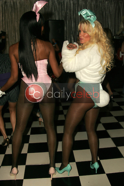 """Qiana Chase and Tina Jordan<br /> at """"Milwaukee's Best"""" Bash hosted by 97.1 Free FM's """"Two Chicks and a Bunny,"""" Playboy Mansion, Beverly Hills, CA 02-25-06<br /> <br /> David Edwards/DailyCeleb.com 818-249-4998"""