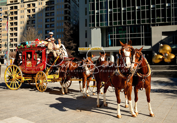 Wells Fargo (Charlotte NC) hosted a holiday event in the Wells Fargo Atrium December 2011 in downtown Charlotte. The event included a Toys for Tots collection, holiday tree lighting ceremony and a brief performance by Nutcracker dancers.